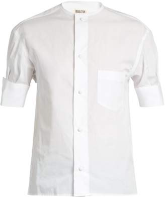 Yohji Yamamoto REGULATION Short-sleeved cotton-poplin shirt