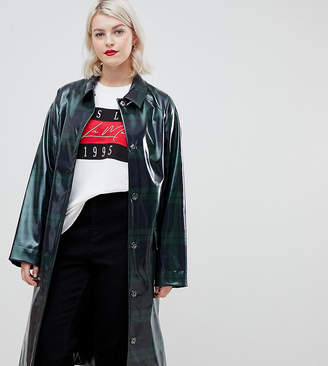 Asos Design DESIGN Curve tartan high shine mac