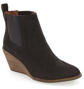 Women's Lucky Brand 'Pallet' Wedge Chelsea Boot $138.95 thestylecure.com
