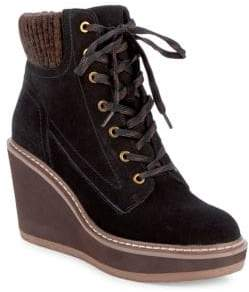 Tommy Hilfiger Solene Suede Lace-Up Boots