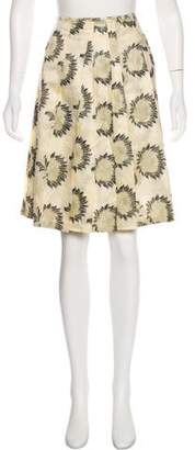 Dries Van Noten Floral Jacquard Skirt