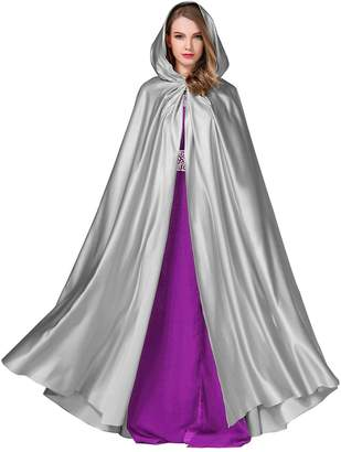 BEAUTELICATE Hooded Cape Bridal Cloak Poncho Women`s Wedding Full Length (More Colors)
