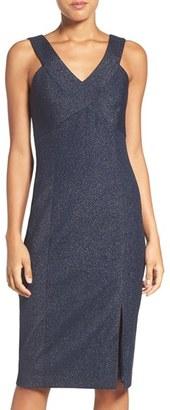 Laundry by Shelli Segal Metallic Knit Midi Dress $225 thestylecure.com