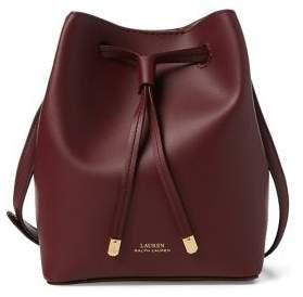 Lauren Ralph Lauren Mini Leather Drawstring Bucket Bag