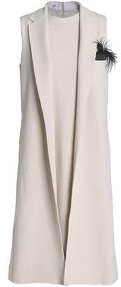 Brunello Cucinelli Embellished Paneled Crepe Dress