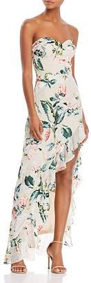 Amanda Uprichard Eden Burnout Asymmetric Maxi Dress