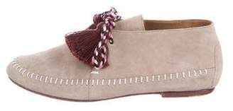 Ulla Johnson Suede Round-Toe Loafers