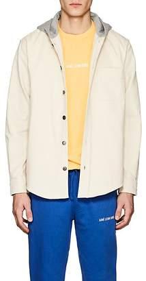 Leon Aime Dore Men's Corduroy Hooded Shirt