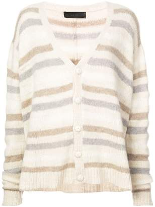The Elder Statesman cashmere stripe detail cardigan