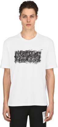 Maison Margiela Scribble Logo Cotton Jersey T-Shirt