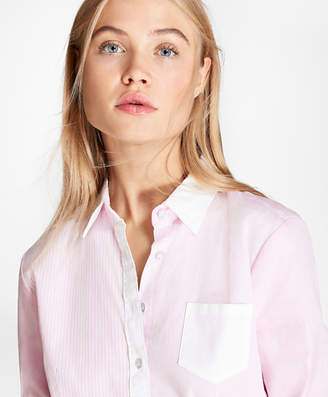 Brooks Brothers Striped Cotton Poplin Fun Shirt
