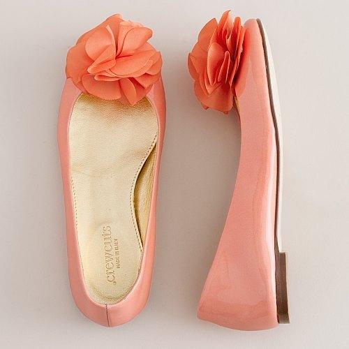 Girls' floret patent ballet flats