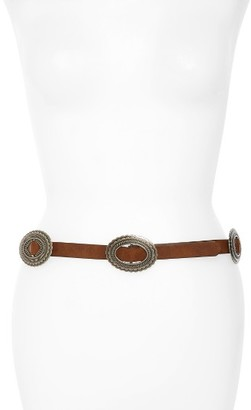 Women's Hinge Concho Faux Leather Belt $39 thestylecure.com