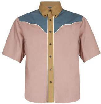 Prada Short Sleeved Western Cotton Shirt - Mens - Multi