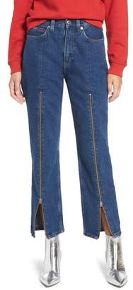 Tommy Jeans 1990 Zip Front High Waist Straight Leg Jeans