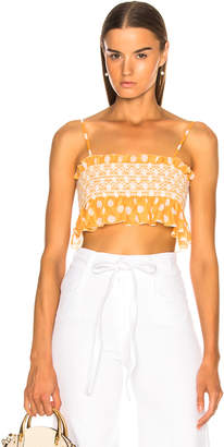 Lisa Marie Fernandez Selena Smocked Crop Top