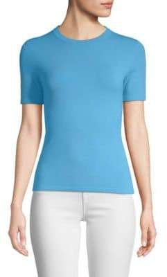 Michael Kors Women's Fitted Tee - Porcelain - Size Large