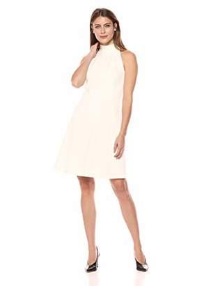 Lark & Ro Women's Sleeveless Fit and Flare Funnel Dress