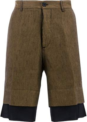 Ann Demeulemeester striped tailored shorts