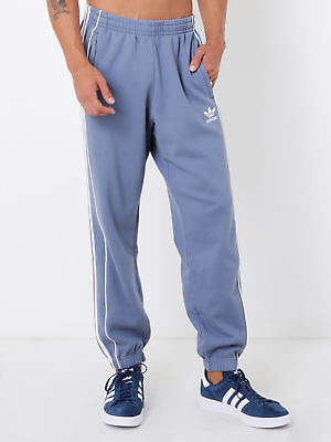 adidas New Mens Pipe Sweat Pants In Steel Blue Pants & Chinos Track Pants