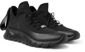 Fendi Coated-Mesh High-Top Sneakers