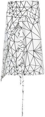 Comme des Garcons geometric print skirt