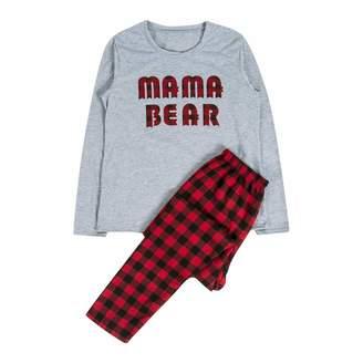 Lesimsam Pama Mama Little Bear Family Plaid Christmas Pajamas Sets Plaid Christmas  Sleepwear Family (M 983e2e911