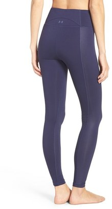 Women's Under Armour 'Mirrror Hi-Rise Shine' Leggings $79.99 thestylecure.com