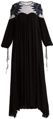 Fendi - Sequined Crepe Georgette Gown - Womens - Black