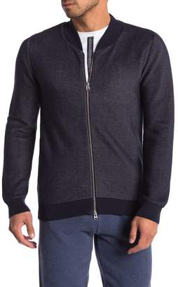 Knowledge Cotton Apparel Pique Knit Zip Up Cardigan