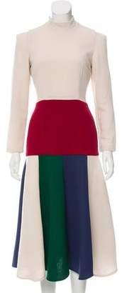 Tata-Naka Tata Naka Godet Midi Dress w/ Tags