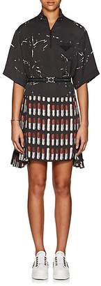 Prada Women's Lipstick-Print Belted Dress