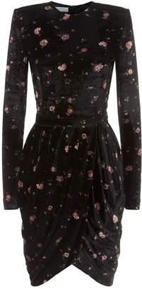 Philosophy di Lorenzo Serafini Flower Velvet Mini Dress