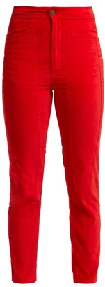 Aries Velvet Trousers - Womens - Red