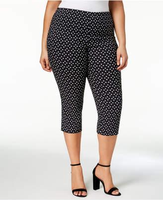 Charter Club Plus Size Printed Capri Pants, Created for Macy's