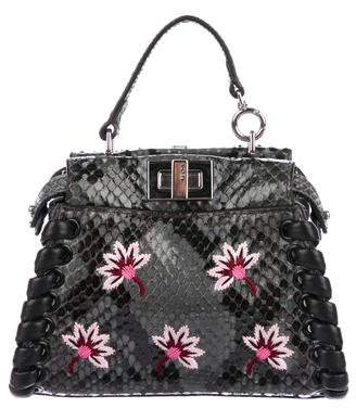 Fendi Embroidered Micro Peekaboo Bag