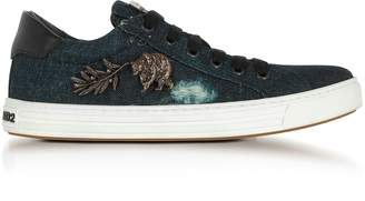 DSQUARED2 Washed Denim Tennis Club Women's Sneakers