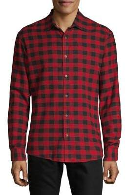 Black & Brown Black Brown Brushed Flannel Buffalo Check Shirt