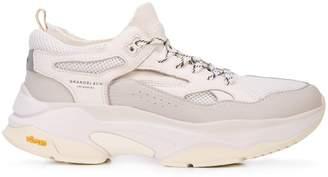 Brandblack platform sole sneakers