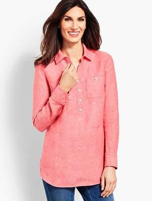 Talbots Linen Camp Shirt - Cross-Dyed