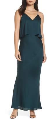 Shona Joy Luxe Frilled Bodice Bias Cut Gown