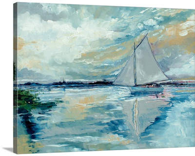 Wayfair 'Boat On The Broads' by Stuart Roy Painting Print