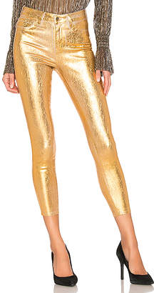 L'Agence Margot High Rise Skinny With Crackle Foil.