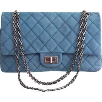 Chanel Blue Suede Handbag