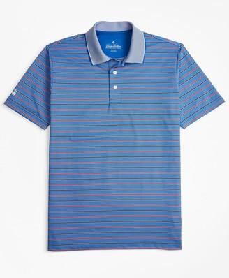 Brooks Brothers Performance Series Bold Bird's-Eye Stripe Polo Shirt