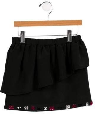 Milly Girls' Embellished Peplum Skirt w/ Tags