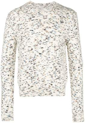Saint Laurent speckled crew-neck jumper
