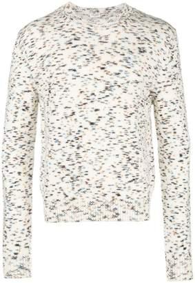 Saint Laurent speckled crew-neck jumper