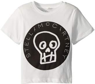 Stella McCartney Arrow Short Sleeve Skull T-Shirt w/ Logo Lettering Boy's T Shirt