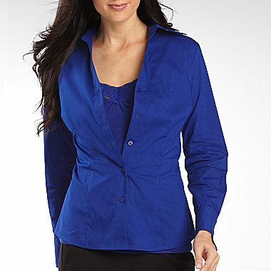 JCPenney Worthington® Long-Sleeve French Cuff Shirt -Tall